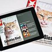 e-Magazine Art Print