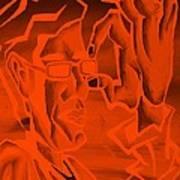 E Vincent Orange Art Print