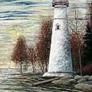 Eagle Bluff Light Art Print