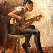 Eakins' Study For Negro Boy Dancing -- The Banjo Player Art Print