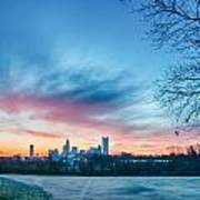 Early Morning Sunrise Over Charlotte City Skyline Downtown Art Print