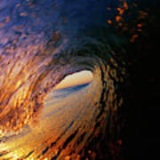 Early Morning Wave Breaking Art Print