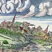 Earthquake, 1550 Art Print