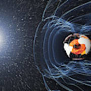 Earths Magnetic Field Art Print