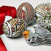 Easter Eggs Do With Birds Art Print