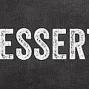 Eat Dessert First Art Print