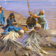 Egyptians Raising Water From The Nile Art Print