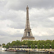 Eiffel Tower And The Seine Art Print