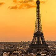 Eiffel Tower At Sunrise - Paris Art Print
