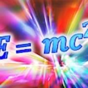 Einstein's Mass-energy Equation Art Print