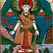 Ek Darshi Mata Vishnu Avatar Art Print by Ashok Kumar