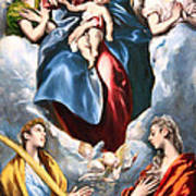 El Greco's Madonna And Child With Saint Martina And Saint Agnes Art Print