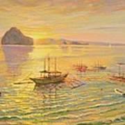 El Nido Sunrise Art Print