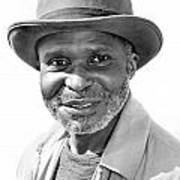 Elderly Black Man Art Print