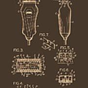 Electric Razor Patent 1940 Art Print