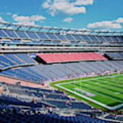 Elevated View Of Gillette Stadium, Home Art Print