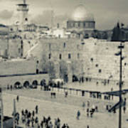 Elevated View Of The Western Wall Art Print