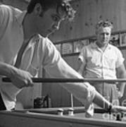 Elvis Presley With His Father Vernon 1956 Art Print