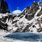 Emerald Lake In Rocky Mountain National Park Art Print