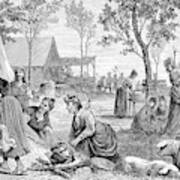 Emigrants Arkansas, 1874 Art Print