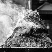 Encens Burning Art Print