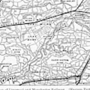 England Railroad Map Art Print