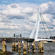 Erasmus Bridge In Rotterdam Art Print
