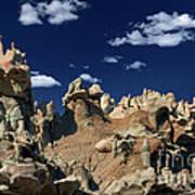 Eroded Sandstone Formations Fantasy Canyon Utah Art Print