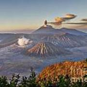 eruption at Gunung Bromo Art Print