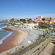 Estoril Beach In Portugal Art Print