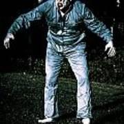 Evil Dead Horror Zombie Walking Undead In Cemetery Art Print