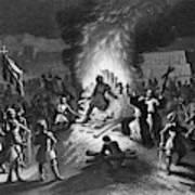 Execution Of Atahualpa Art Print