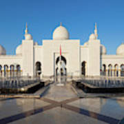 Exterior View Of Sheikh Zayed Grand Art Print