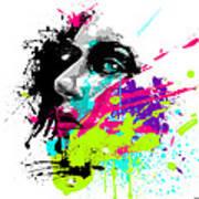 Face Paint 2 Art Print