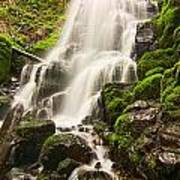 Fairy Falls In The Columbia River Gorge Area Of Oregon Art Print