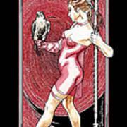 Falcon Queen - Atlanta Falcons Version Art Print