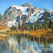 Fall Reflections - Cascade Mountains Art Print