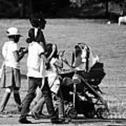 Family Walking In The Park Art Print