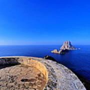 Famous Tower Of Savinar On Ibiza Island Art Print