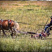 Farming With Horses Art Print