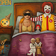 Fast Food Nightmare Art Print by Leah Saulnier The Painting Maniac