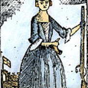 Female Continental Soldier Art Print