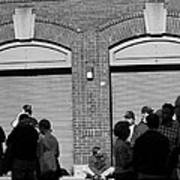 Fenway Park - Fans And Locked Gate Art Print