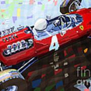 1965 British Grand Prix Silverstone  Lorenzo Bandini Ferrari 158 Art Print