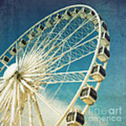 Ferris Wheel Retro Art Print