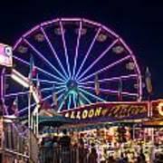 Ferris Wheel Rides And Games Art Print