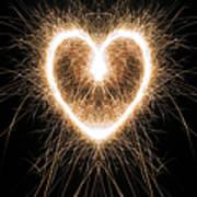 Fiery Heart Art Print