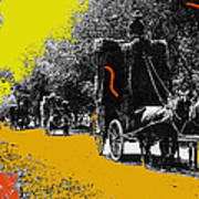 Film Homage Haskell Wexler Days Of Heaven Hay Wagons 1878-2008 Art Print