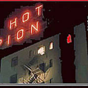 Film Homage Hot Pion 2010 Screen Capture Pioneer Hotel Tucson Arizona Art Print