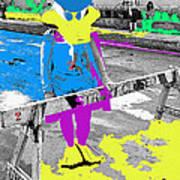 Film Homage Howard The Duck '86 Cowboy Duck Collage La Fiesta De Los Vaqueros Rodeo Tucson '85-'09 Art Print